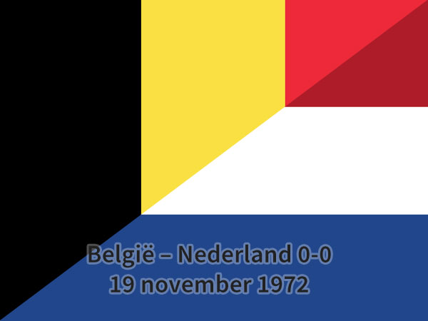 België - Nederland 0-0, 19 november 1972