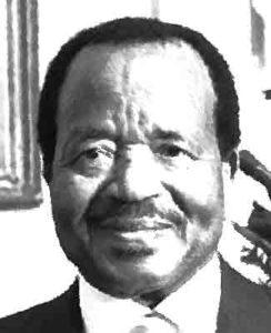 Paul Biya van Kameroen Landen met een dictatuur