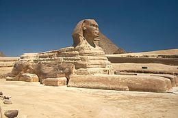 De tien meest beroemde standbeelden ter wereld, De sfinx van Gizeh