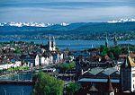 Zürich, ZwitserlandOrigineel: By MadGeographer via Wikicommons