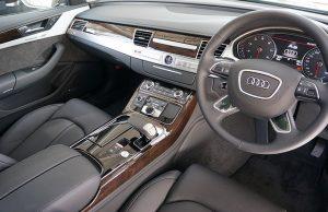 Interieur van de Audi A8