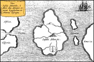 Kaart van Atlantis uit 1665