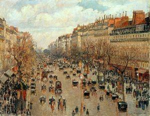 Camille Pissarro - Boulevard Montmartre, soleil après-midi (1897)