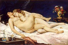 Gustave Courbet - De slaap