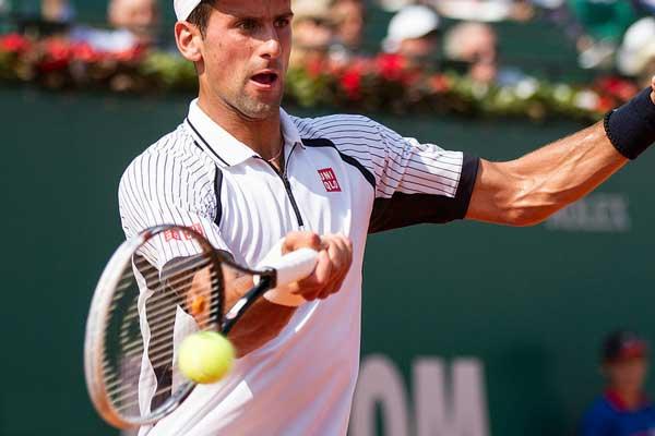 Snelste tennisser ter wereld is Novak Djokovic (top 10 heren en dames)