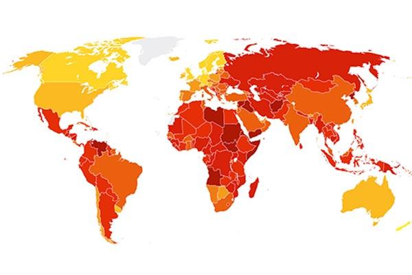 Corruptste land ter wereld is Somalië (Top 180, Nederland 8e)