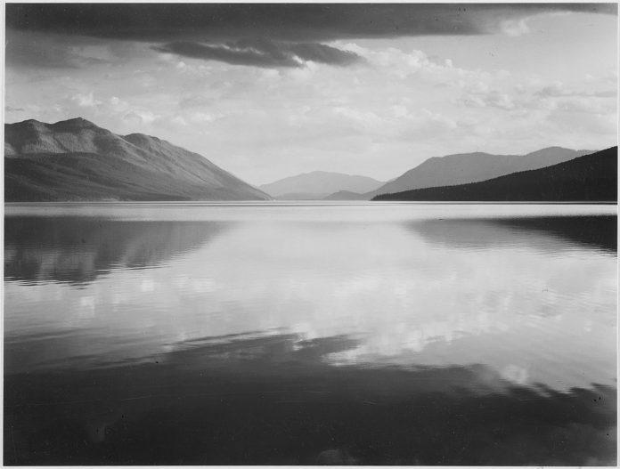 Adams Evening, McDonald Lake, Glacier National Park (1942)