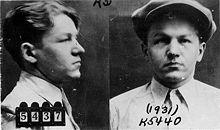 Gevangenisfoto van Baby Face Nelson uit 1931.