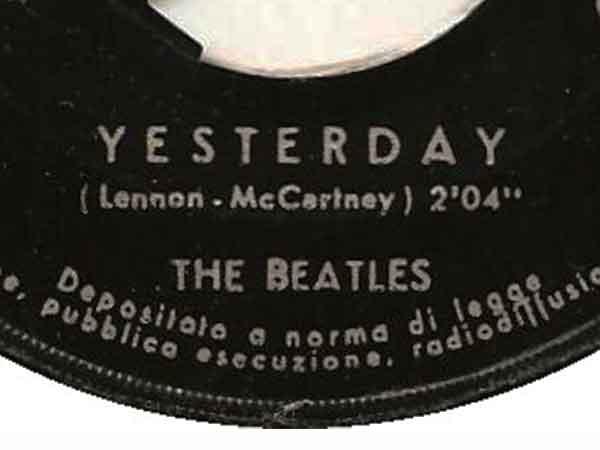 Meest gecoverde nummer is Yesterday van The Beatles (de top 10)