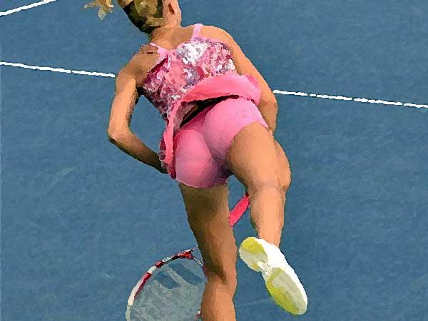 Vrouwen presteren beter onder stress, in ieder geval bij tennis