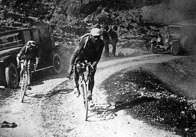 Léon Scieur tijdens de door hem gewonnen Ronde van Frankrijk 1921.