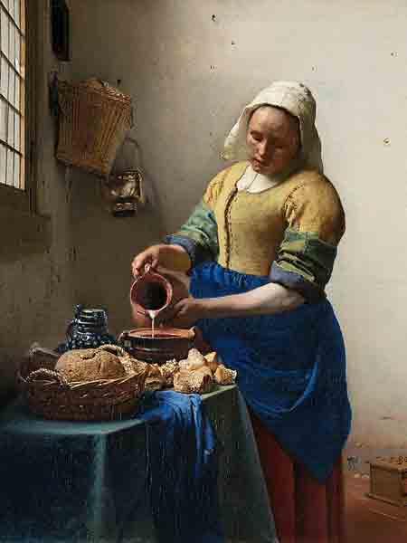 Johannes Vermeer, Het melkmeisje, ± 1658-1661 Rijksmuseum Amsterdam