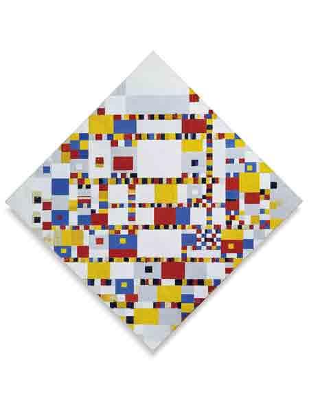 Bekendste Nederlandse schilder: Mondriaan, Victory Boogie Woogie, het Gemeentemuseum Den Haag