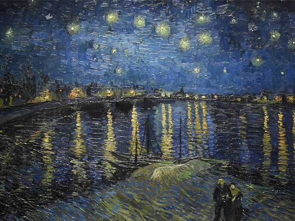Bekendste Nederlandse schilder: Vincent van Gogh, Sterrennacht boven de Rhône, 1888, Musée d'Orsay