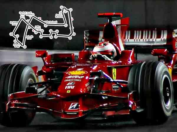 Alle winnaars Formule 1 Grand Prix van Singapore sinds 2008