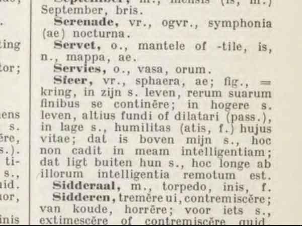 Meest gebruikte Latijnse woorden en uitdrukkingen (meer dan 500)