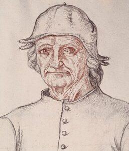 Jacques Le Boucq (naar een onbekende meester). Portret van Jheronimus Bosch. Ca. 1550