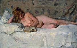 Isaac Israels - Liggend naakt (Sjaantje van Ingen), ci. 1894-1900