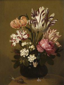 Hans Gillisz. Bollongier -Stilleven met bloemen. 1644