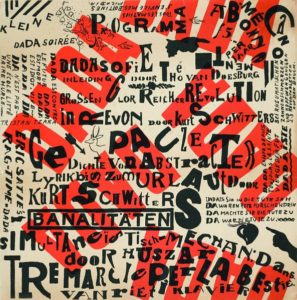 Theo van Doesburg - affiche voor Dada-Soiree in 1922