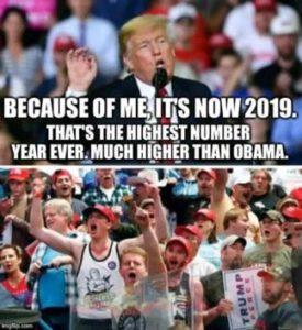 Donald Trump en opscheppen