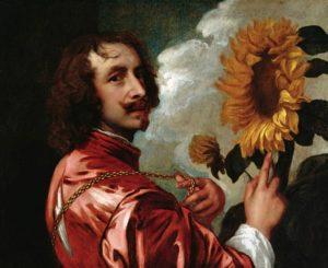 Anthony van Dyck - Zelfportret met zonnebloem (1641)