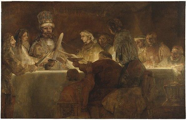 Rembrandt - De samenzwering van de Bataven onder Claudius Civilis (1661-1662)