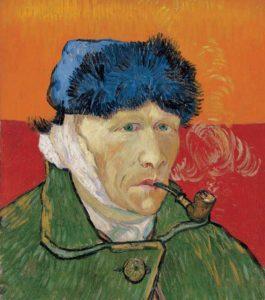 Vincent van Gogh - Zelfportret met afgesneden oor (1889)