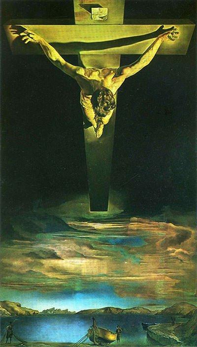De Christus van de Heilige Johannes van het kruis - Salvador Dali