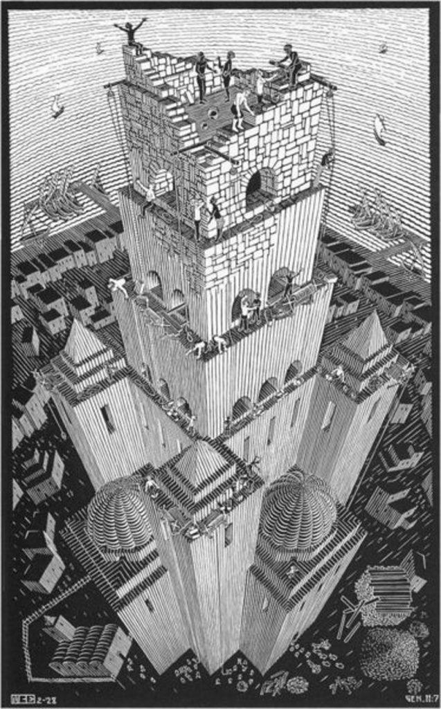 De Toren van Babel - M.C. Escher