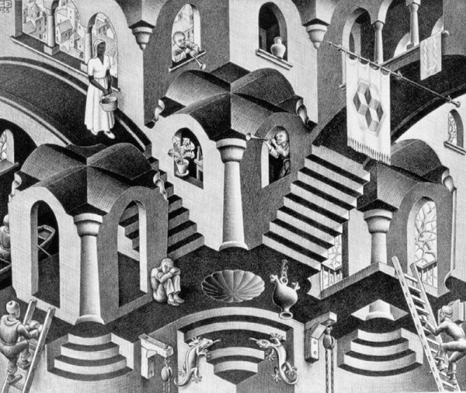 Hol en Bol -M.C. Escher