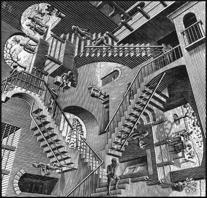 Relativiteit - M.C. Escher