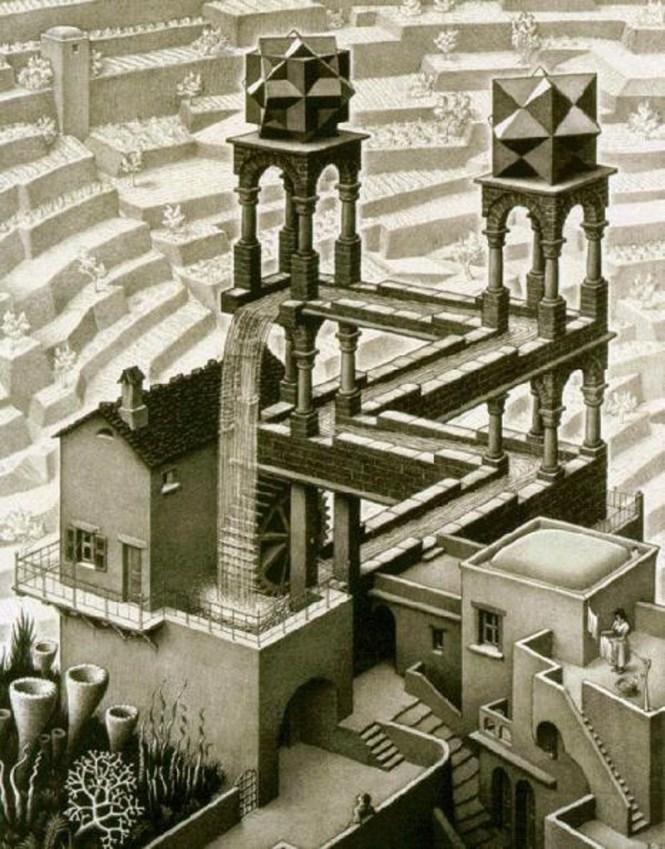 Waterval - M.C. Escher