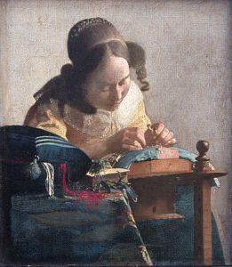 De kanstwerkster (1669–1670) - Johannes Vermeer
