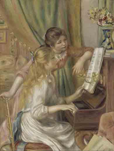 bekendste schilderijen van Auguste Renoir - Jeunes filles au piano - Pierre-Auguste Renoir (1892)