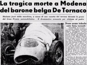 Charles de Tornaco: dodelijk ongeluk op het circuit van Modena in 1953