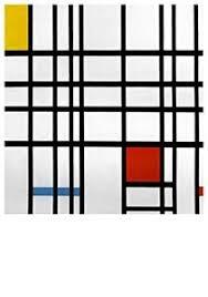 Piet Mondriaan: Compositie met rood, geel en blauw - 1937 - 1942