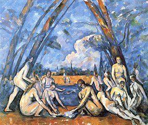 De grote baadsters - Paul Cézanne - 1906 = bekendste schilderijen van Paul Cézanne
