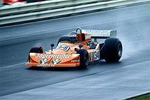 Hans-Joachim Stuck tijdens de Grote Prijs van Duitsland 1976 op de Nürburgring