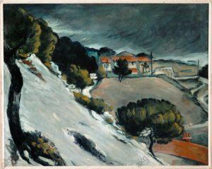 La neige fondue à L'Estaque - Paul Cézanne - 1871