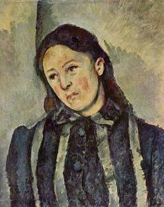 Madame Cézanne met los haar / Madame Cézanne met los haar aux cheveux dénoués - Paul Cézanne - 1890 – 1892