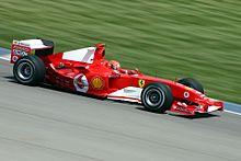 Michael Schumacher op Indianapolis, 2004
