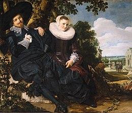 Portret van Isaac Abrahamsz Massa en Beatrix van der Laen - Frans Hals - ca. 1622