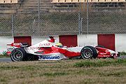Ralf Schumacher in de Toyota in 2006