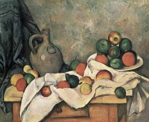 Stilleven met gordijn, kruik en fruitschaal / Rideau, Cruchon et Compotier - Pual Cézanne - 1893 / 1894