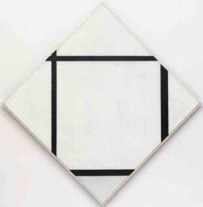 Piet Mondriaan: Tableau I: Ruit met vier lijnen en grijs - 1926