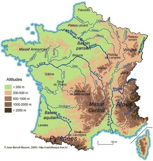 Bergketens: Hoogste bergen in Frankrijk