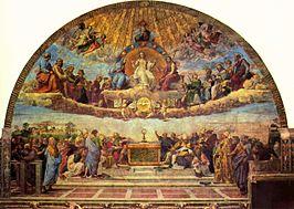 Dispuut over het Heilige Sacrament / La disputa del sacramento (1510) - Rafaël