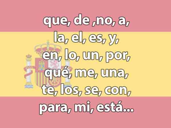 Meest gebruikte Spaanse woorden – De top 100