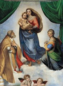 Sixtijnse Madonna / Madonna Sistina (1512) - Rafaël